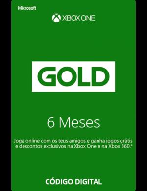 Xbox Live Gold 6 Meses Código 25 Dígitos