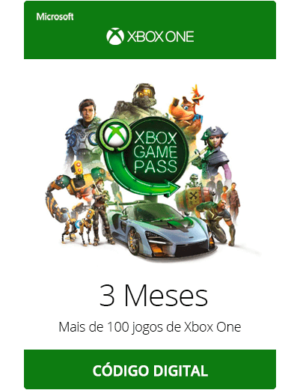 Xbox Game Pass 3 Meses Código Dígital