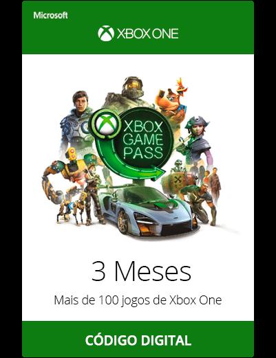 Xbox Game Pass 3 Meses Código Dígital
