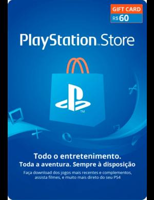 Cartão-PSN-Gift-Card-R$-60-Reais-Playstation-Store-Brasil